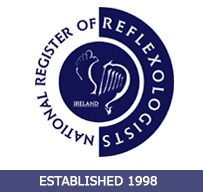 reflexologist member of the National Register of Reflexologists Ireland accredited by Aviva Health, VHI Healthcare, Laya Healthcare and GLO Health refund
